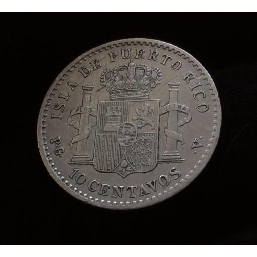 10 CENTAVOS 1896 - ISLA DE PUERTO RICO - ALFONSO XIII [1]