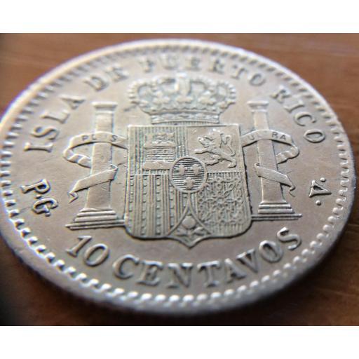 10 CENTAVOS 1896 - ISLA DE PUERTO RICO - ALFONSO XIII [3]