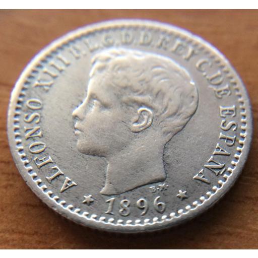 10 CENTAVOS 1896 - ISLA DE PUERTO RICO - ALFONSO XIII [2]