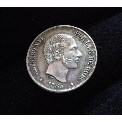 10 CENTAVOS PLATA 1885 - ALFONSO XII - ISLAS FILIPINAS - COLONIAS