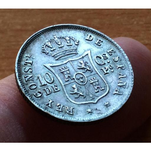 10 CENTAVOS PLATA 1885 - ALFONSO XII - ISLAS FILIPINAS - COLONIAS  [1]