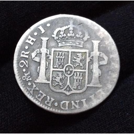 2 REALES 1811 - FERNANDO VII - BUSTO IMAGINARIO - MÉXICO  [1]