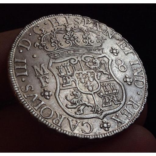 ESPECTACULAR COLUMNARIO DE 8 REALES DE 1764 - CARLOS III - MÉXICO  [1]