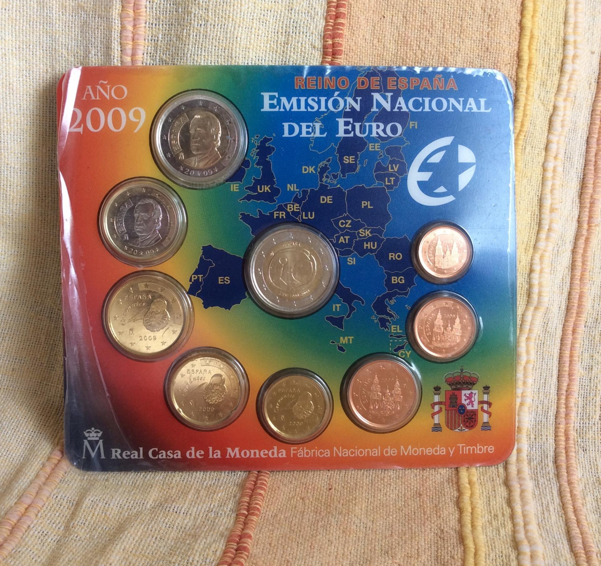 CARTERA ESPAÑA - SERIE EUROS 2009 - CON 2€ CONMEMORATIVOS