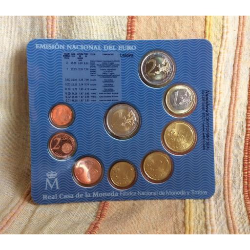 CARTERA ESPAÑA - SERIE EUROS 2009 - CON 2€ CONMEMORATIVOS [1]