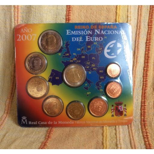 CARTERA ESPAÑA - SERIE EUROS 2007 - CON 2€ CONMEMORATIVOS