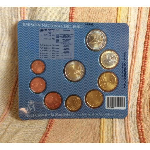 CARTERA ESPAÑA - SERIE EUROS 2007 - CON 2€ CONMEMORATIVOS [1]