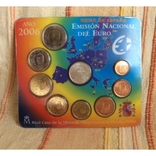 CARTERA ESPAÑA - SERIE EUROS 2006 - CON MEDALLA