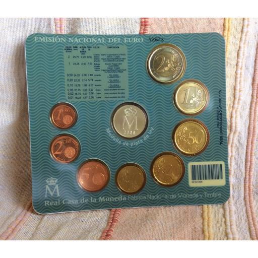 CARTERA ESPAÑA - SERIE EUROS 2006 - CON MEDALLA [1]