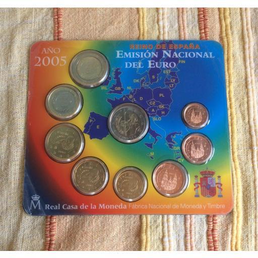 CARTERA ESPAÑA - SERIE EUROS 2005 - CON 2€ CONMEMORATIVOS