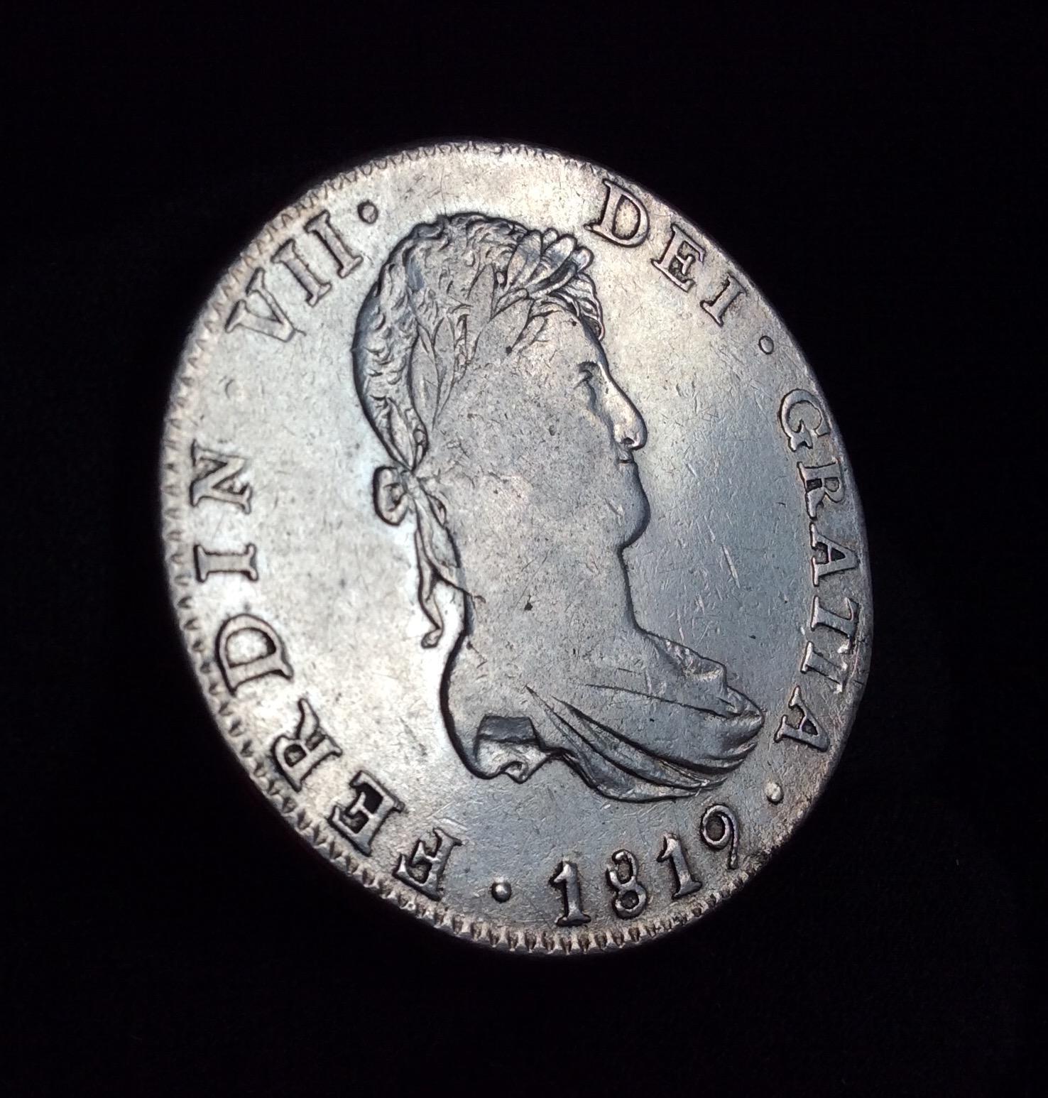 8 REALES PLATA 1819 - FERNANDO VII - CECA DE MÉXICO