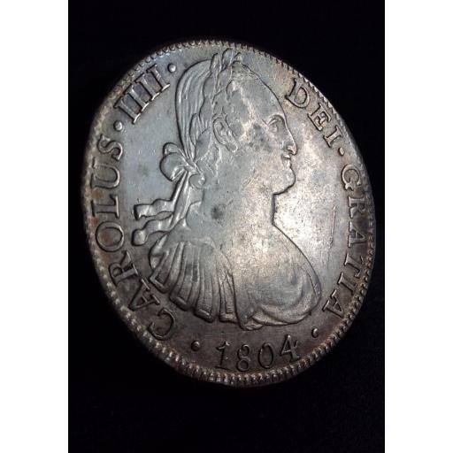 8 REALES 1804 - CARLOS IV - CECA DE MÉXICO - BELLA PATINA