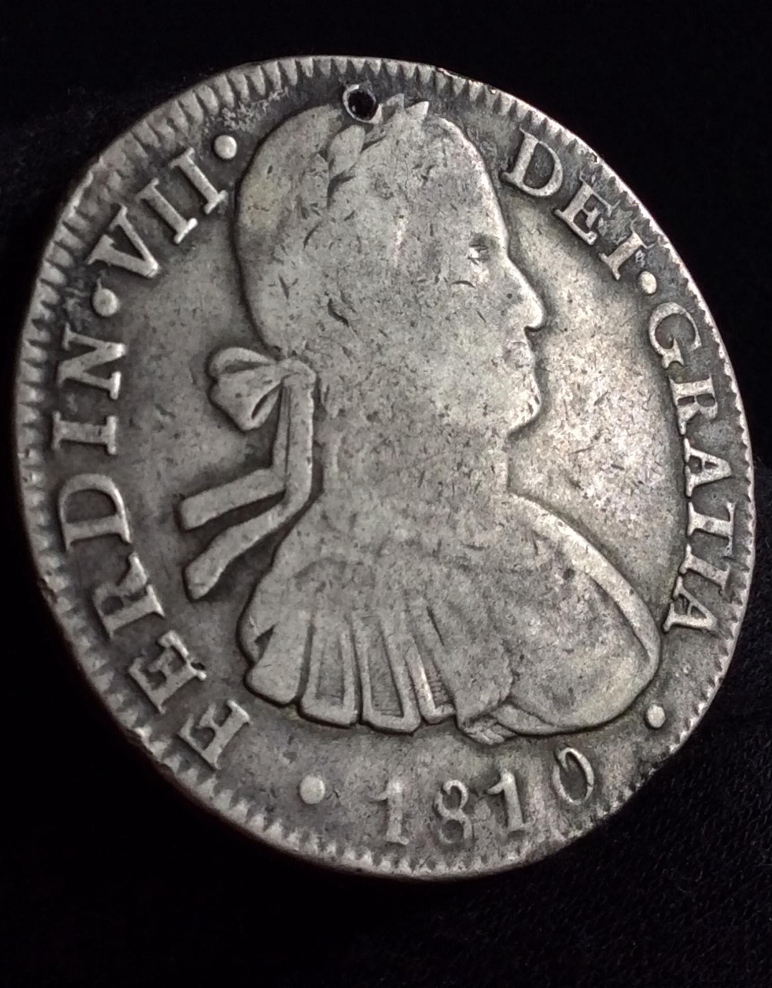 8 REALES 1810 - FERNANDO VII - CECA MÉXICO - BUSTO ALMIRANTE