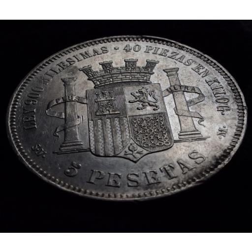 ESPECTACULARES 5 PESETAS 1870 - GOBIERNO PROVISIONAL  [3]