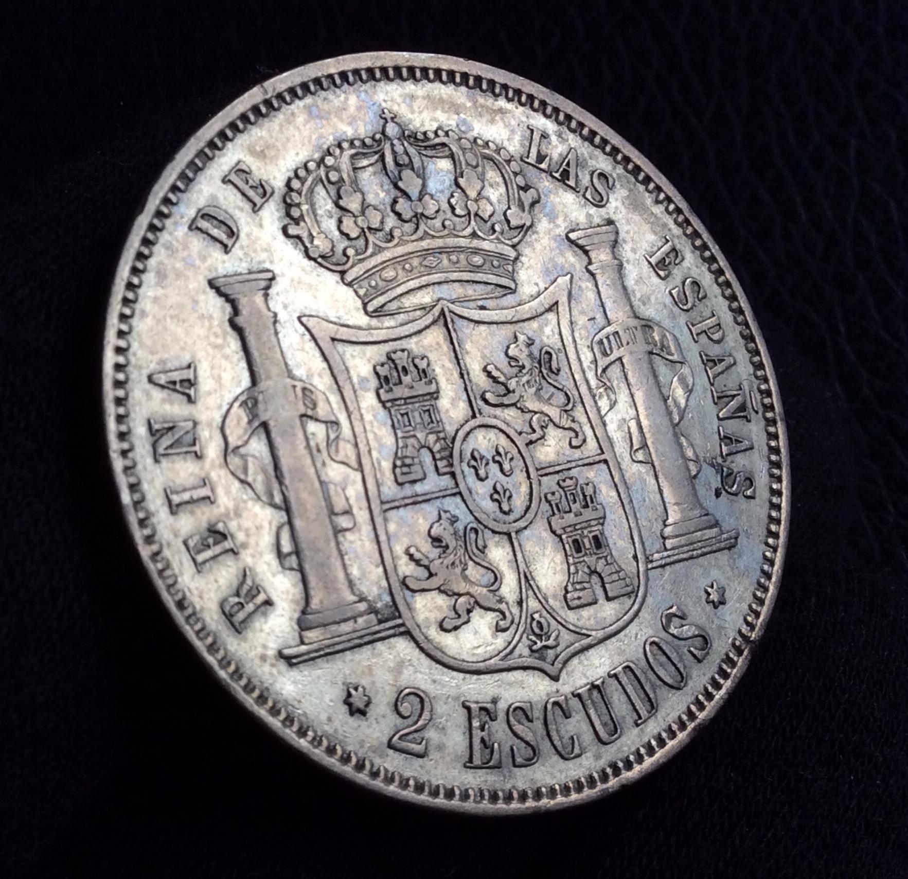2 ESCUDOS 1867 - ISABEL II - CECA DE MADRID