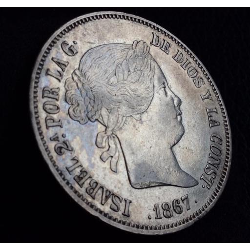2 ESCUDOS 1867 - ISABEL II - CECA DE MADRID  [1]