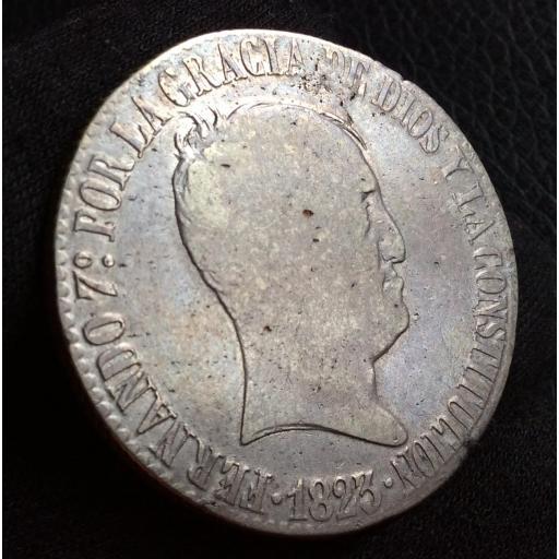 ESCASOS 20 REALES 1823 - BARCELONA - FERNANDO VII