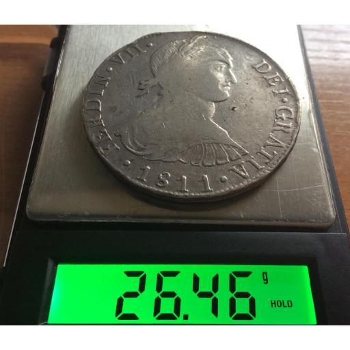 8 REALES 1811 - BUSTO INDÍGENA - FERDIN VII - LIMA  [2]