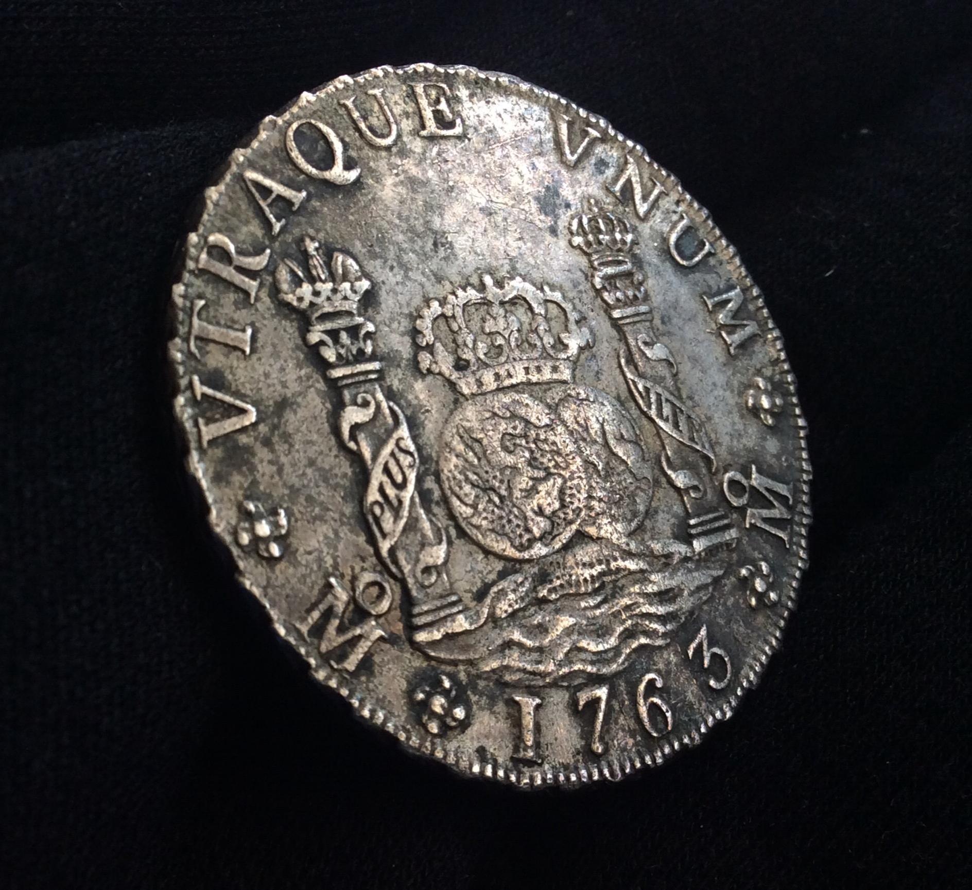 COLUMNARIO 8 REALES 1763 - CARLOS III