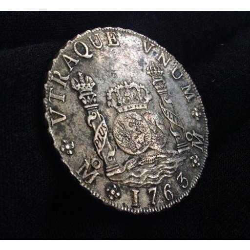 COLUMNARIO 8 REALES 1763 - CARLOS III [0]