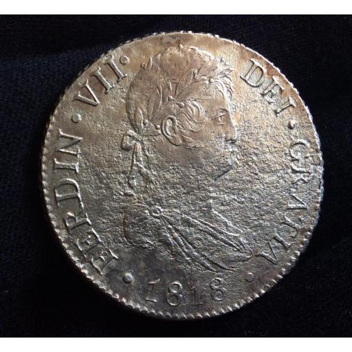 8 REALES 1818 - MADRID GJ - FERNANDO VII  [1]