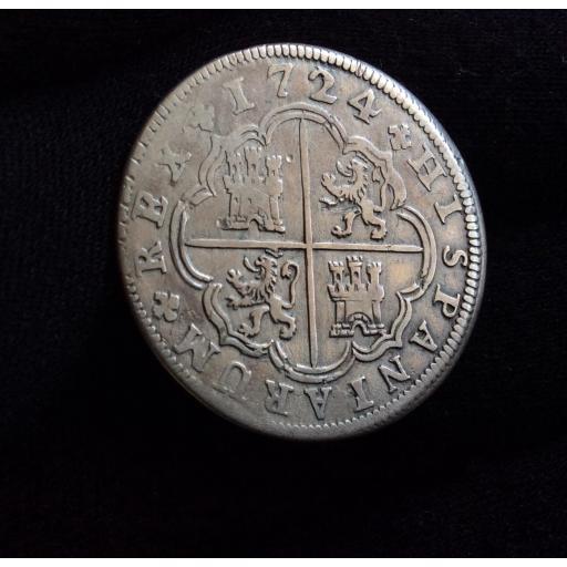 "ESCASOS 2 REALES 1724 - LUIS I - MADRID - ""LUDOVICUS I "" SOBRE ""PHILLIPUS V"" [1]"