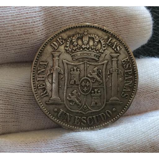 UN ESCUDO PLATA 1867 - ISABEL II - MADRID