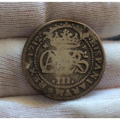 2 REALES 1712 - CARLOS III EL PRETENDIENTE