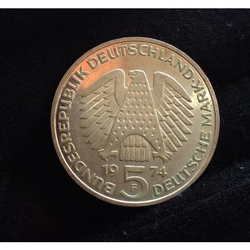 5 MARK 1974 - ALEMANIA - CONSTITUCIÓN