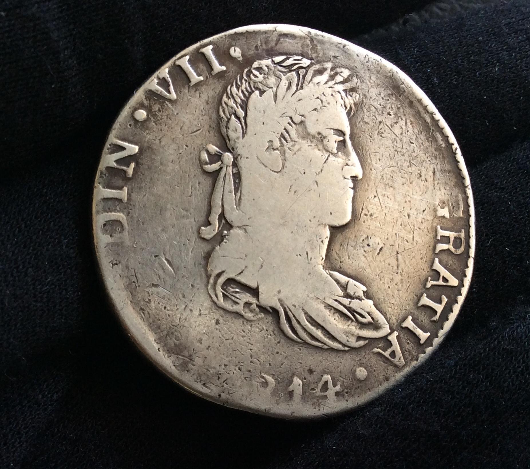 ESCASOS 8 REALES 1814 - GUATEMALA - FERNANDO VII