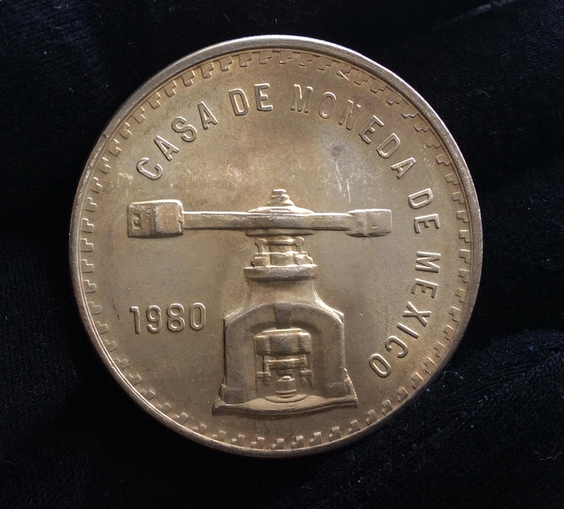 1 ONZA TROY DE PLATA MÉXICO 1980