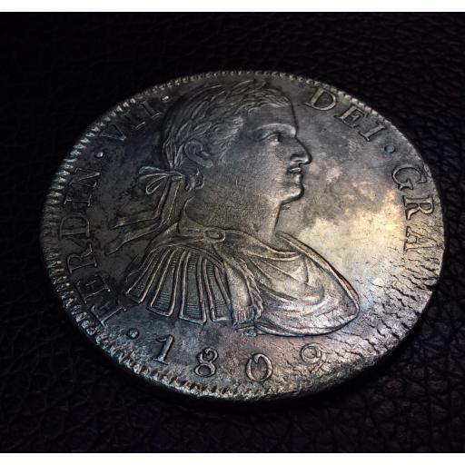 """8 REALES 1809 - BUSTO IMAGINARIO - MEXICO - FERNANDO VII - """"DÍGITOS DE FECHA SEPARADOS"""" [3]"""