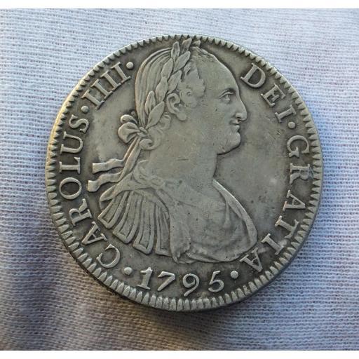 8 REALES 1795 - MÉXICO FM - CARLOS IV