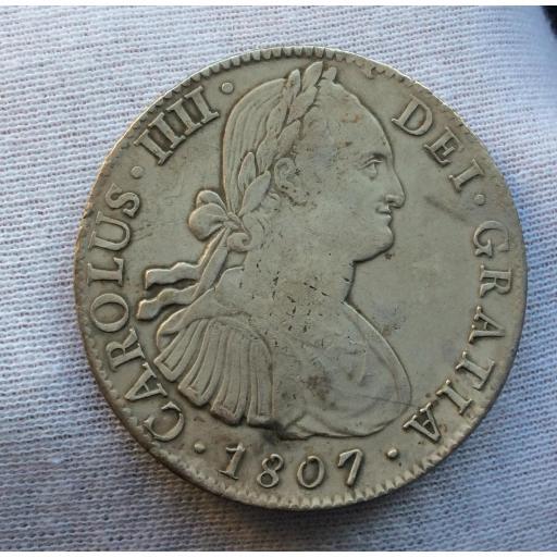 8 REALES 1807 - MÉXICO - CARLOS IV