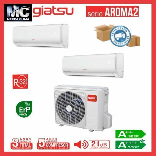 Aire 2x1 GIATSU GIA-MO2-18IX41BR32+12AR2R32+09AR2R32 wifi
