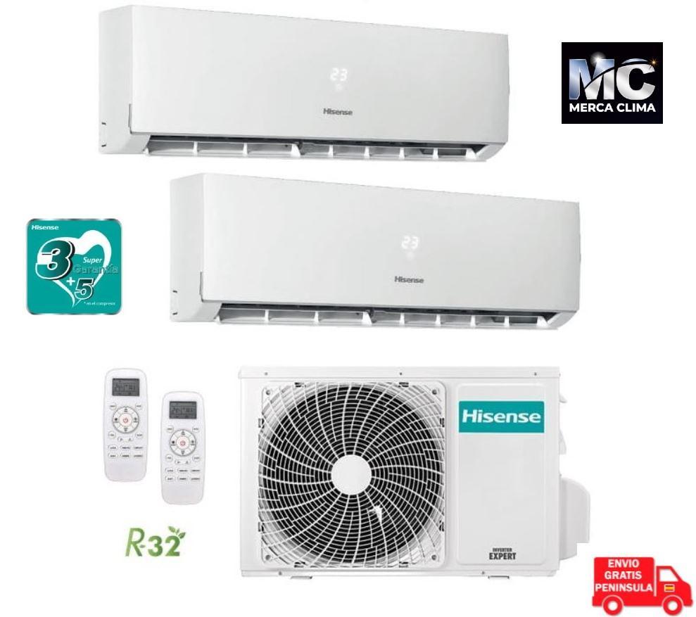 Aire Acondicionado Hisense Multi Split 2x1 3100+3100 wifi incluido