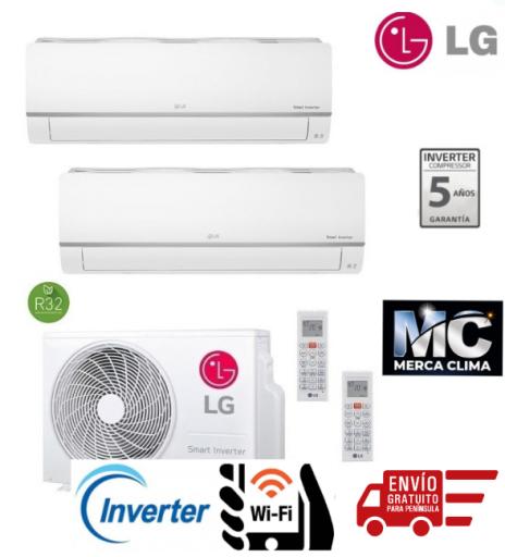 LG MU3R19 + PC009SQ + PC18SQ CONFORT CONNECT - Aire acondicionado 2X1