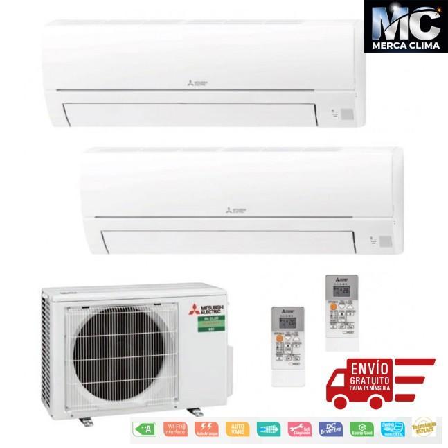 Mitsubishi Electric MXZ-2HA40VF + MSZ-HR25VF + MSZ-HR35VF Aire Acondicionado 2x1