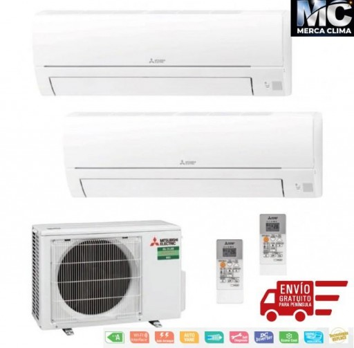 Mitsubishi Electric MXZ-2HA40VF + MSZ-HR25VF + MSZ-HR35VF Aire Acondicionado 2x1