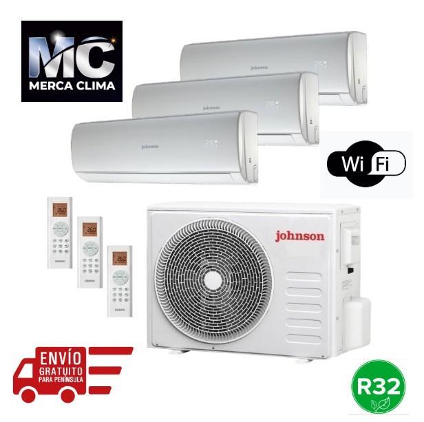 Johnson J3FM62 + JT25NT + JT25NT + JT35NT  r32 wifi Aire Acondicionado 3x1