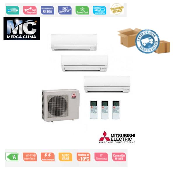 Mitsubishi Electric MXZ-3HA50VF + MSZ-HR25VF + MSZ-HR25VF + MSZ-HR25VF Kit 3x1