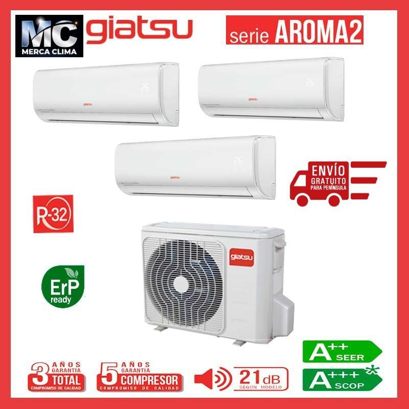 Aire acondicionado 3x1 GIATSU GIA-MO3-21IX41BR32+09AR2R32+09AR2R32+12AR2R32
