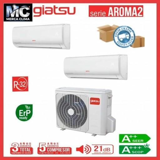 AIRE ACONDICIONADO 2x1 GIATSU GIA-MO2-14IX41BR32+09AR2R32+09AR2R32 wifi incluido