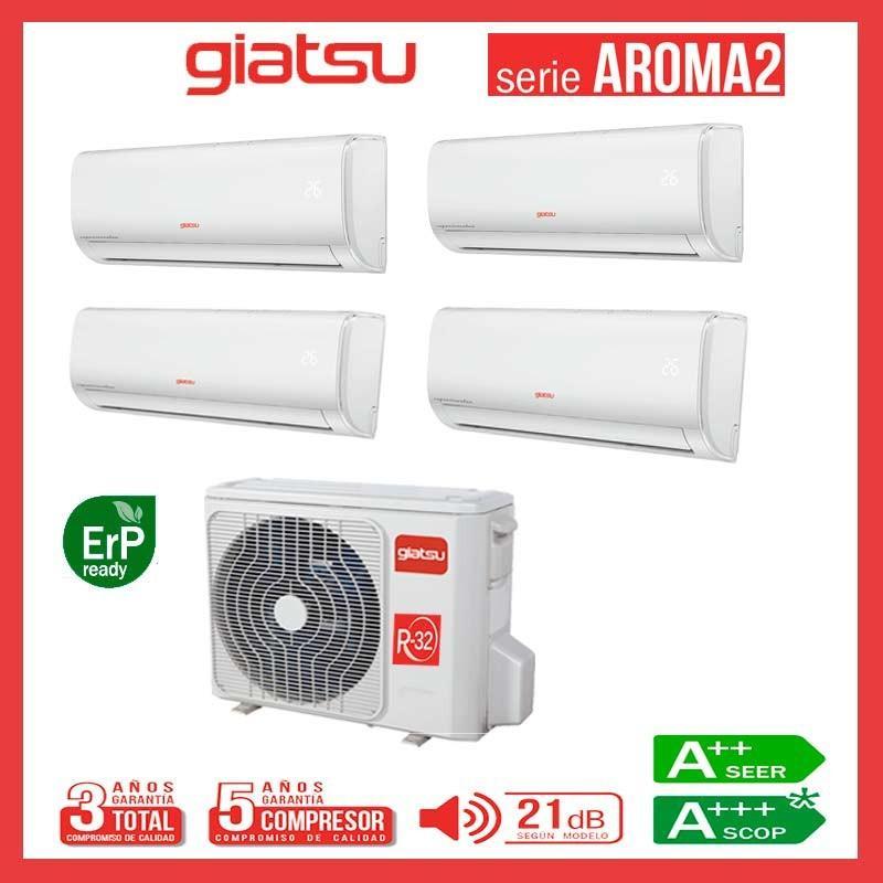 Aire acondicionado 4x1 GIATSU GIA-MO4-36IX41BR32+ GIA-09R32+ GIA-09R32+ GIA-09R32 + GIA-09R32