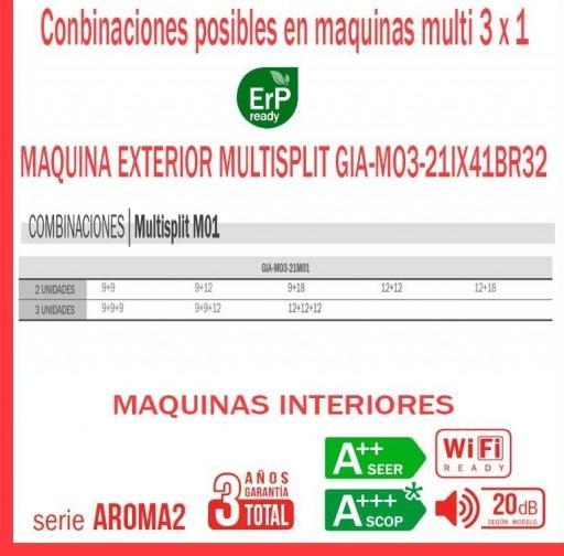Aire acondicionado 3x1 GIATSU GIA-MO3-21IX41BR32+09AR2R32+09AR2R32+12AR2R32 [3]