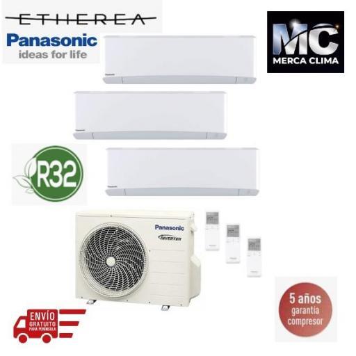 Panasonic KIT-3Z252535-TBE Etherea 3x1 Blanco mate