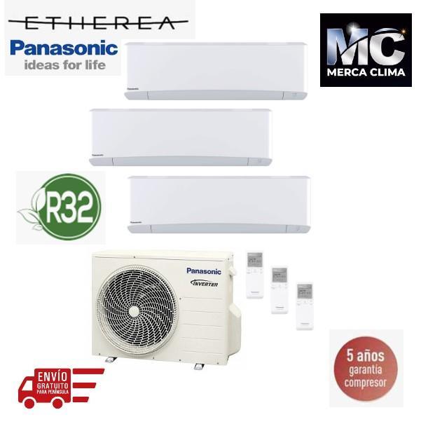Panasonic KIT-3Z252535-VKE Etherea 3x1 Blanco mate