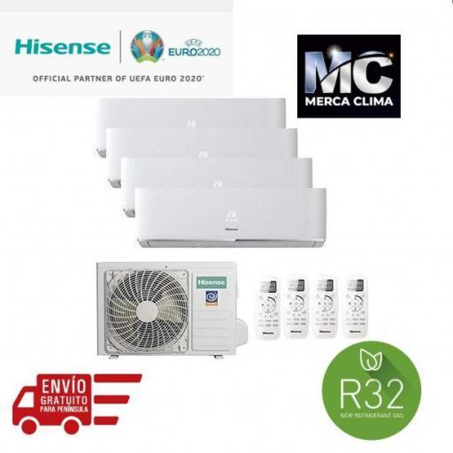 Aire Acondicionado Hisense Multi Split 4x1 81 + 25 + 25 + 25 +35 wifi