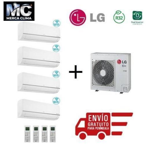 LG Confort Connect WiFi 4x1 PC09SQ + PC09SQ + PC09SQ + PC18SQ + MU5R30
