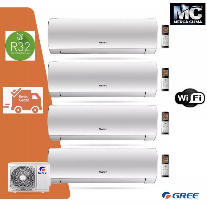 Aire Acondicionado Multi 4X1 GREE FM 28 R32 + 2 Split FAIR 9+ 2 Split FAIR 12